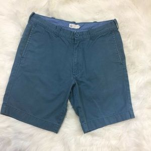 J.Crew Classic Men's Shorts Blue Flat Front Cotton